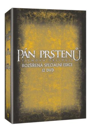 Pán prstenů filmová trilogie: Rozšířená edice 12DVD (DVD)