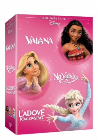 Vaiana + Na vlásku + Ľadové královstvo kolekcia 3DVD (SK) (DVD)
