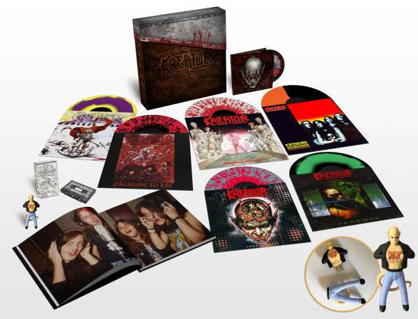 KREATOR - UNDER THE GUILLOTINE (6 LPS, DVD, 40 PAGE BOOK, CASSETTE, USB FIGURINE)